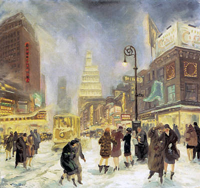 Winter Storm Photograph - The White Way by John Sloan