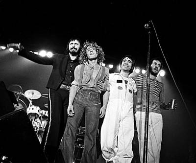 Townshend Photograph - The Who 1975 by Chris Walter