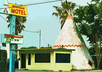The Wigwam Motel Print by Charlette Miller