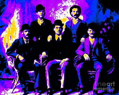 The Wild Bunch 20130212m68 Print by Wingsdomain Art and Photography