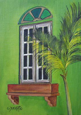 The Window Print by Gloria E Barreto-Rodriguez
