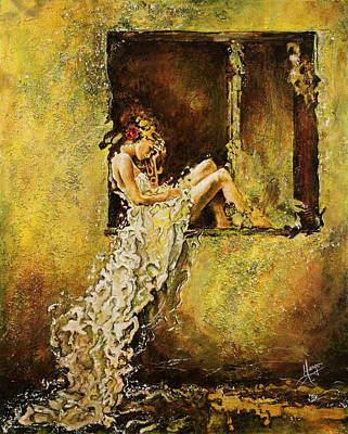 Contemplative Painting - The Window by Karina Llergo Salto