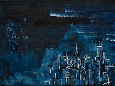 Hancock Building Painting - The Windy City by Rafay Zafer
