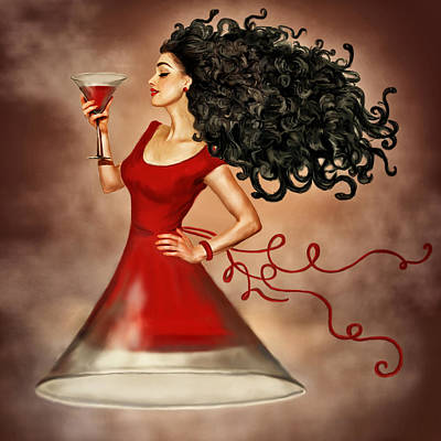 Gorgon Digital Art - The Wine Is Sweeter Than Blood by Diana Efimova