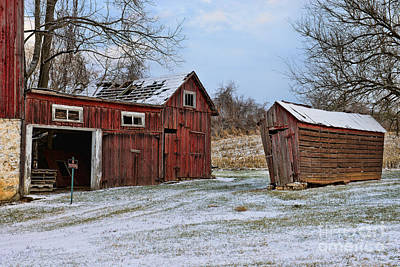 The Winter Barn Print by Paul Ward