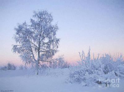 Finland Painting - The Winter Light by Veikko Suikkanen