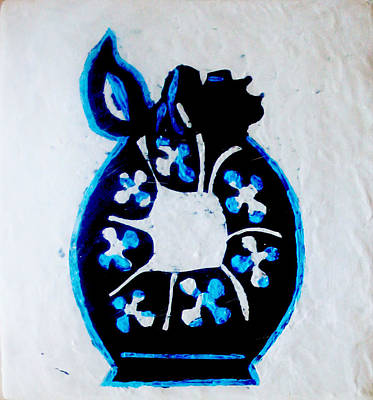 African Contemporary Ceramics Painting - The Wise Virgin Algorithm by Gloria Ssali