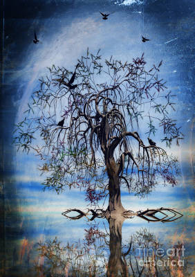 Torn Painting - The Wishing Tree by John Edwards