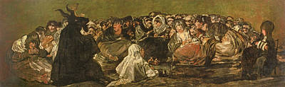 1821 Photograph - The Witches Sabbath Or The Great He-goat, One Of The Black Paintings, C.1821-23 Oil On Canvas by Francisco Jose de Goya y Lucientes