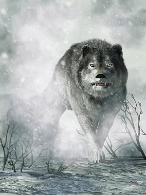 Animal Lover Digital Art - The Wolf Of Winter by Daniel Eskridge