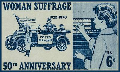 Suffrage Painting - The Woman's Suffrage Stamp by Lanjee Chee