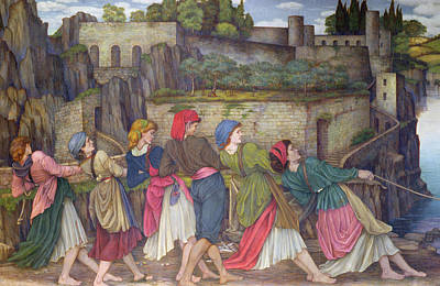 The Women Of Sorrento Print by John Roddam Spencer Stanhope
