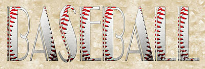 The Word Is Baseball Print by Andee Design