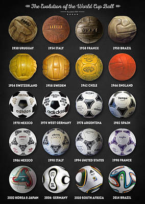 Pele Digital Art - The World Cup Balls by Taylan Apukovska