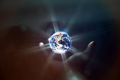 Earth Photograph - The World In The Palm Of Your Hand by EXparte SE