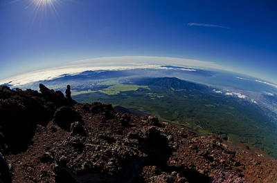 Fuji Photograph - The World Is Never Enough by Aaron S Bedell