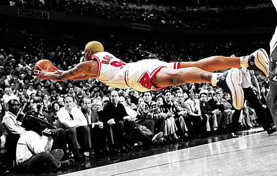 The Worm Dennis Rodman Print by Brian Reaves