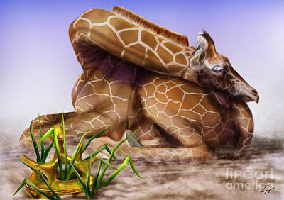 Baby Giraffe Painting - The Would Be King Prince by Reggie Duffie