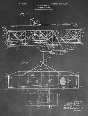 Thought Drawing - The Wright Brothers Airplane by Dan Sproul