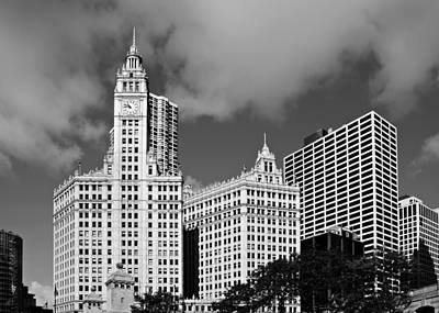 Black Photograph - The Wrigley Building Chicago by Christine Till