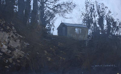 Shed Mixed Media - The Writing Shed by Derek Williams