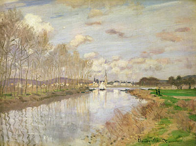 The Yacht At Argenteuil, 1875 Oil On Canvas Print by Claude Monet