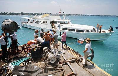Disco Photograph - The Yacht Of Emilio Largo During Filming Of Thunderball by The Harrington Collection