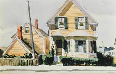 Lamp Post Painting - The Yellow House by Edward Hopper