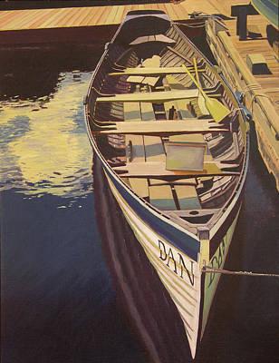 The Yellow Paddle Print by Thu Nguyen