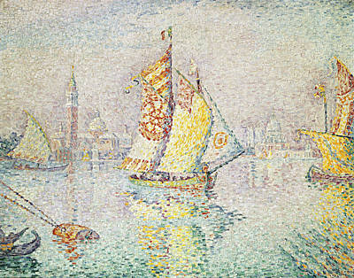 The Yellow Sail, Venice, 1904 Print by Paul Signac