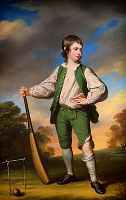 Cricket Painting - The Young Cricketer - 1768 by Mountain Dreams