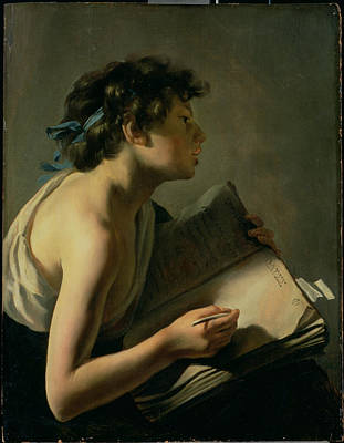 Scribes Painting - The Young Poet by Johann Moreelse