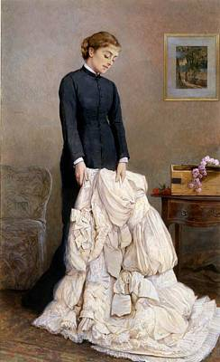 Clothes Clothing Painting - The Young Widow, 1877 by Edward Killingworth Johnson