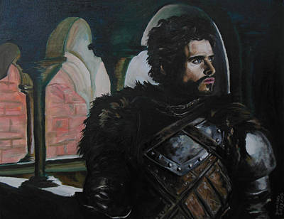 Knights Castle Painting - The Young Wolf by Demian Legg