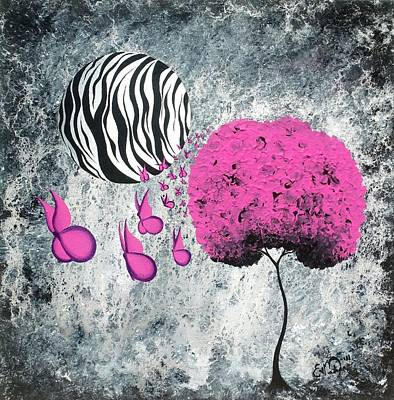 Striped Butterfly Painting - The Zebra Effect 1 by Oddball Art Co by Lizzy Love