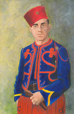 Infantryman Painting - The Zouave by Dominic Sanson