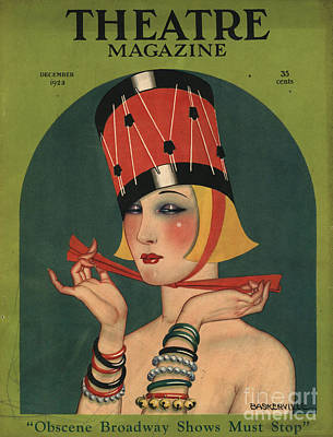 Magazine Cover Drawing - Theatre 1923 1920s Usa Magazines Art by The Advertising Archives