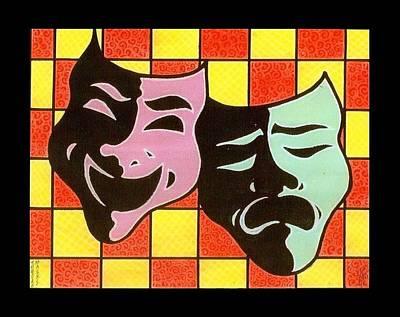 Theatre Masks Print by Jim Harris