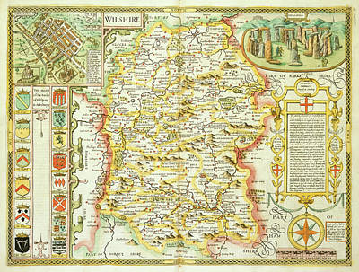 Cartography Photograph - Theatre Of The Empire Of Great Britain by British Library