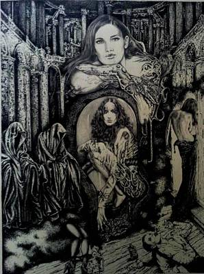 Drawing - Theatre Of Tragedy  by Robert Art