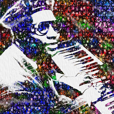 Jazz Digital Art - Thelonious Monk by Jack Zulli