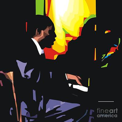 African-american Digital Art - Thelonius Monk by Walter Oliver Neal