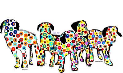 Them Pups Print by Bri B