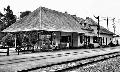 Train Station Photograph - Thendara Train Station by David Patterson
