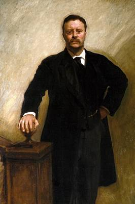 Tr Painting - Theodore Roosevelt by John Singer Sargent