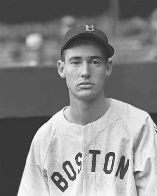 Left Photograph - Theodore S. Ted Williams by Retro Images Archive