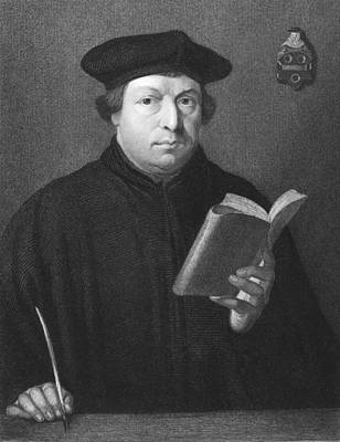 Famous Book Photograph - Theologian Martin Luther by Underwood Archives