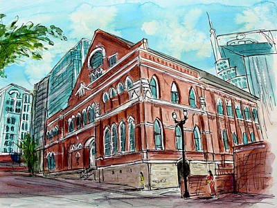 Ryman Auditorium Painting - There Is A Ryman Reason by Tim Ross