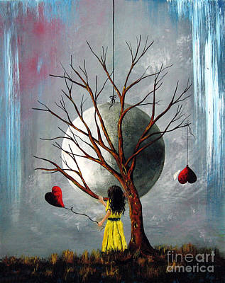 Fantasy Tree Art Painting - There's Always Tomorrow By Shawna Erback by Shawna Erback