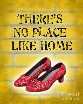 Wiz Digital Art - There's No Place Like Home by Ginny Gaura